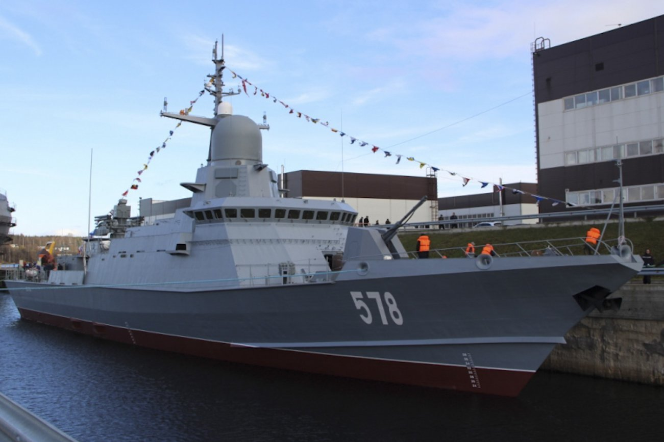 Russia's Latest Karakurt-Class Corvette Getting New Surface-to-Air Missile System