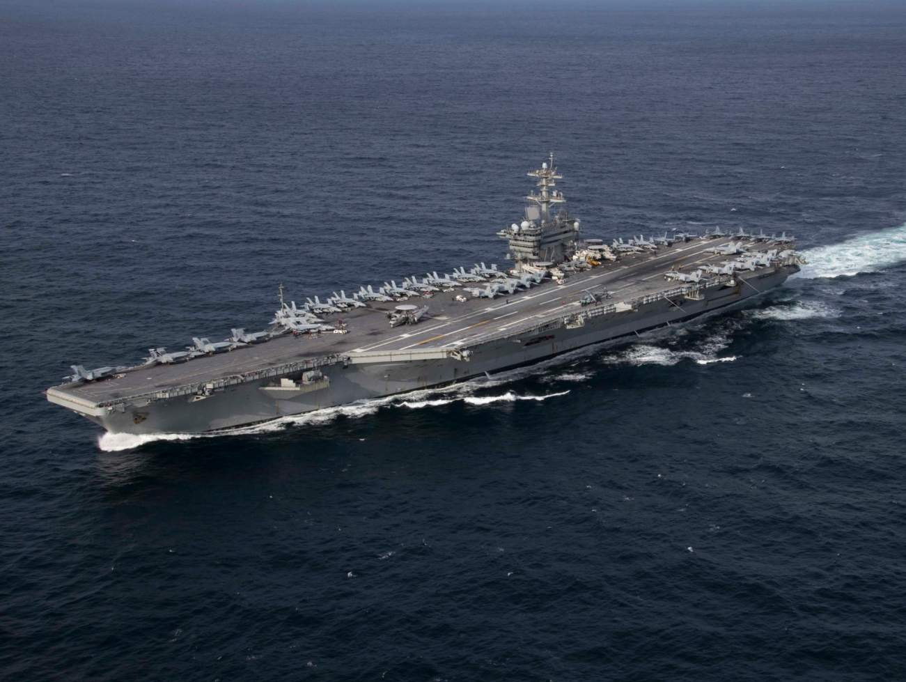 Watch America's 100,000 Ton Aircraft Carrier Perform Crazy High-Speed Turns