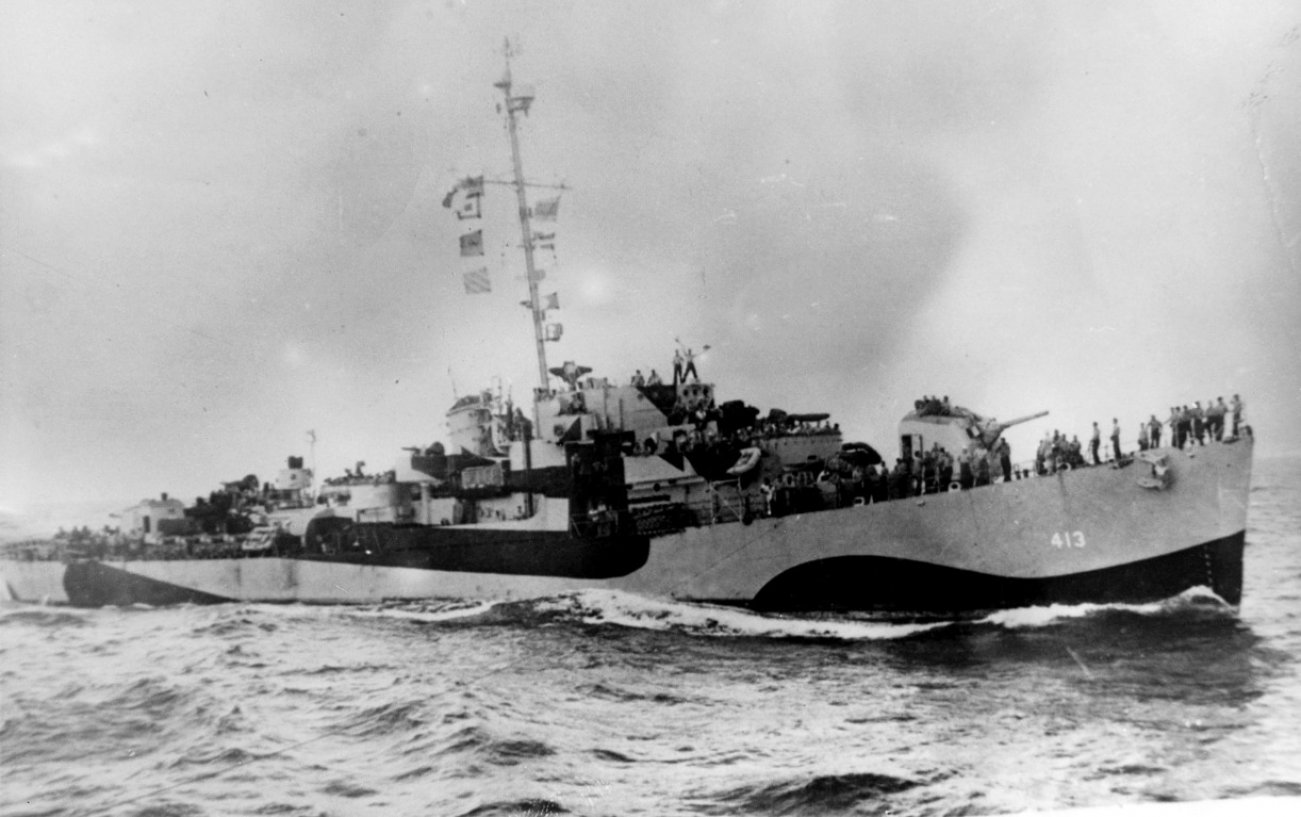 One Against Four: This U.S. World War II Destroyer Took On a Whole Armada of Japanese Battleships