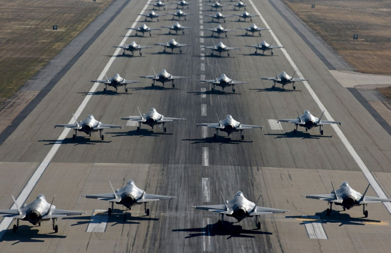 Study This Picture: F-35s Launching en Masse Terrifies North Korea