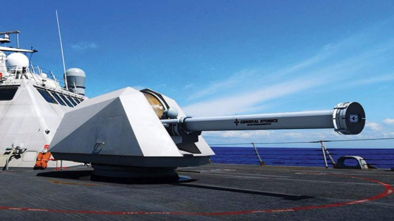 The Navy's New Railguns Will Be Able To Move Mountains