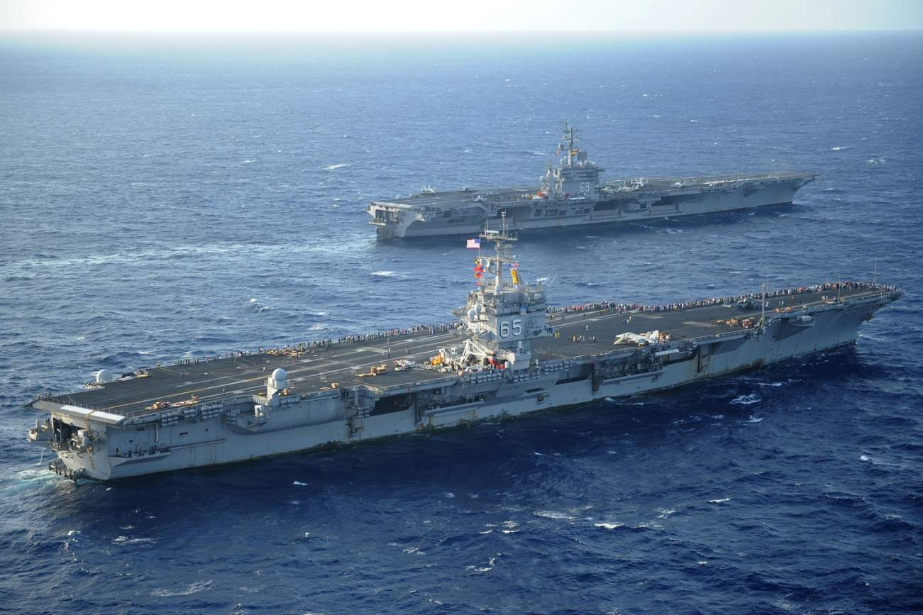 In 1985, A U.S. Navy Aircraft Carrier Smashed Into a 13 Mile Long Solid Rock