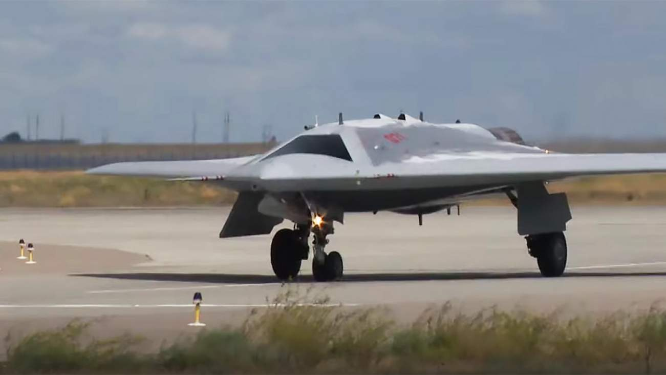 It Looks Like a B-2 Bomber: Here Comes Russia's Okhotnik Stealth Drone