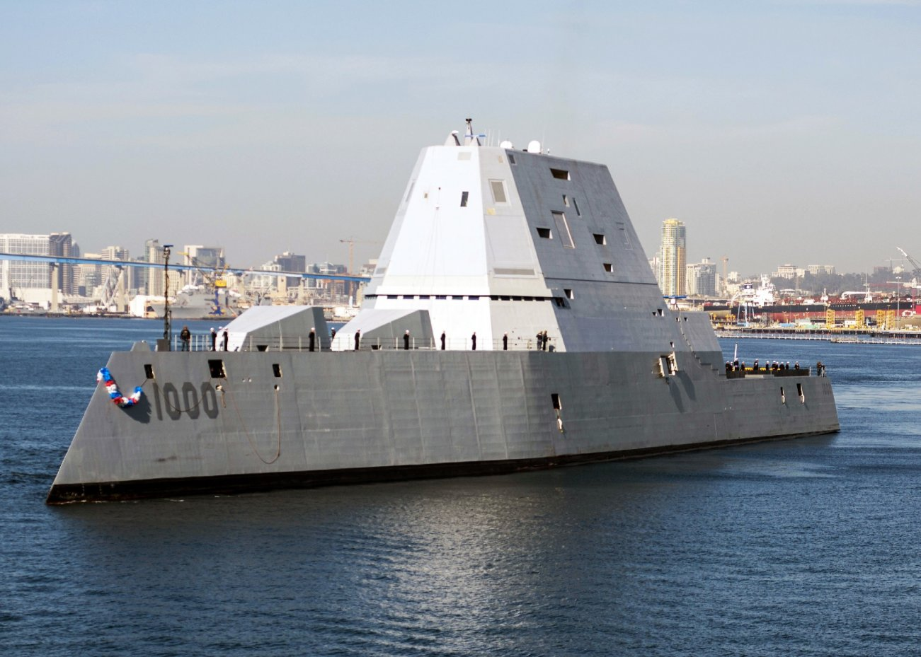 The U.S. Navy's First Stealth Warship Is Almost Ready for War