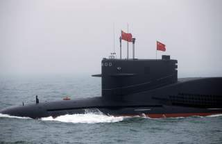 Chinese Navy's nuclear-powered submarine Long March 11 takes part in a naval parade off the eastern port city of Qingdao, to mark the 70th anniversary of the founding of Chinese People's Liberation Army Navy, China, April 23, 2019. REUTERS/Jason Lee